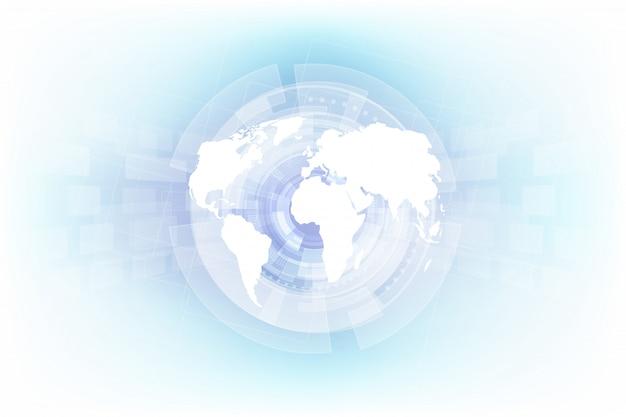 Fondo abstracto de tecnología global digital
