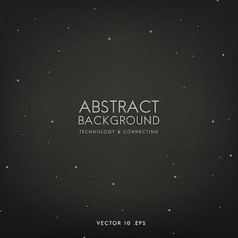Fondo abstracto para tecnología en negro.