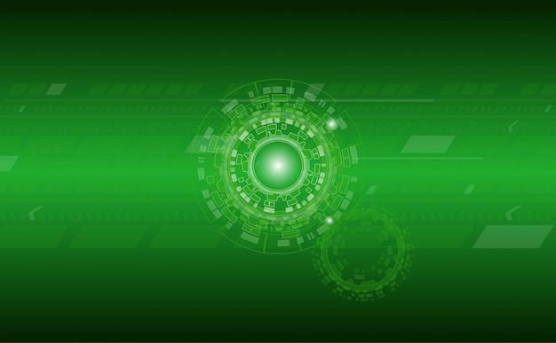 Fondo abstracto de tecnología con patrón de círculo y línea