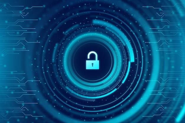 Fondo abstracto de tecnología segura con circuito