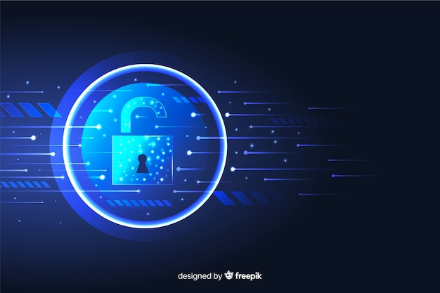 Fondo abstracto de tecnología segura