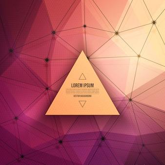 Fondo abstracto de la tecnología del vector 3d triangular