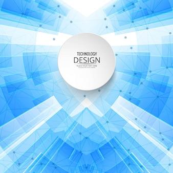 Fondo abstracto tecnológico azul con puntos y líneas