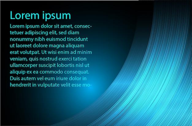 Fondo abstracto de texto azul