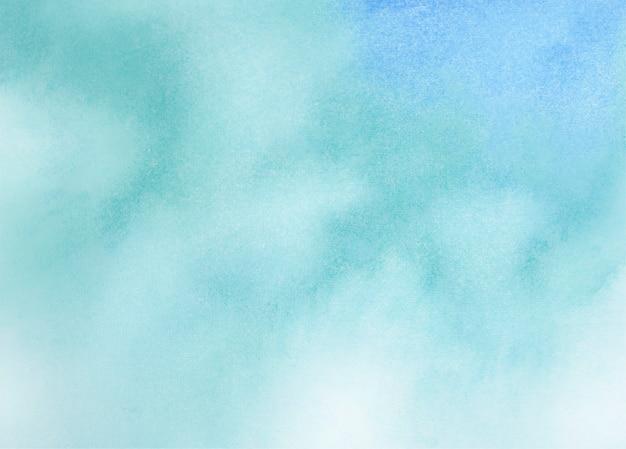 Fondo abstracto de textura acuarela azul y cian
