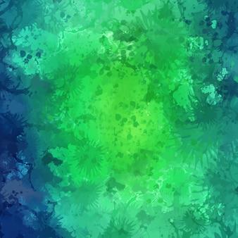 Fondo abstracto de textura de acuarela verde