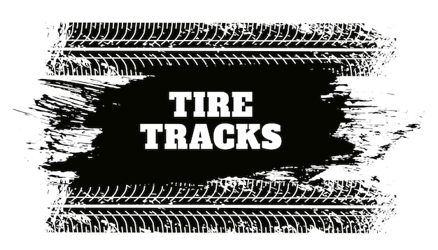 Fondo abstracto de la textura del grunge de la pista del neumático