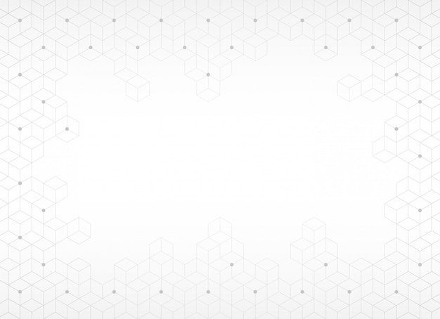Fondo abstracto, textura con hexágono gris, ilustración vectorial