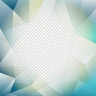 Fondo abstracto transparente poligonal