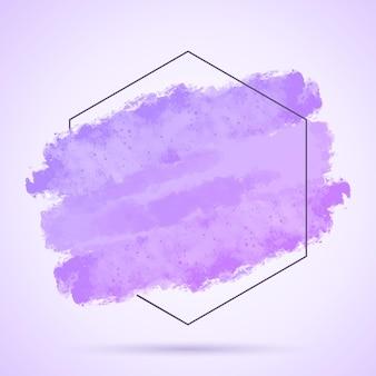 Fondo abstracto con trazo grunge pintado a mano y marco hexagonal