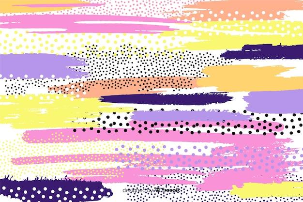 Fondo abstracto de trazos de pincel