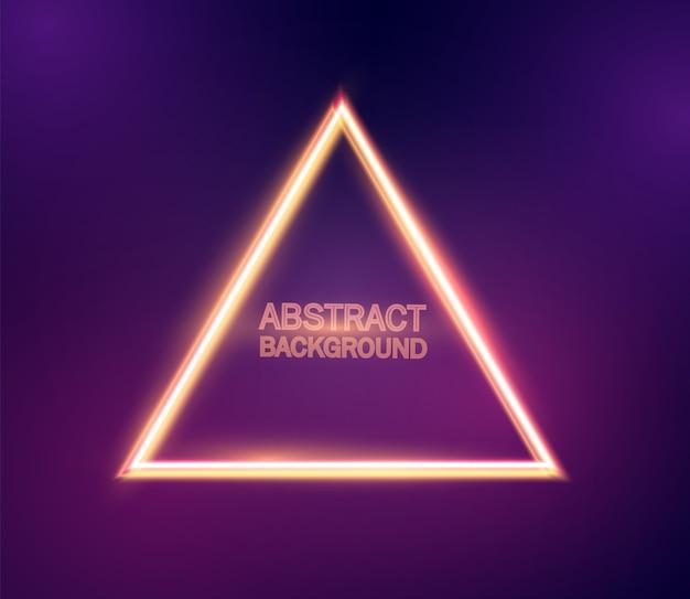 Fondo abstracto triángulo de neón