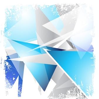 Fondo abstracto de triangulos de cristales