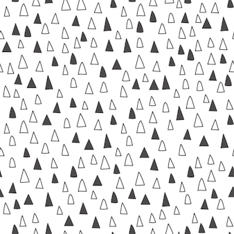 Fondo abstracto. triángulos dibujados a mano. patrón sin costuras