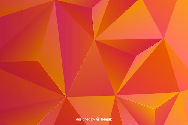 Fondo abstracto tridimensional de formas geométricas