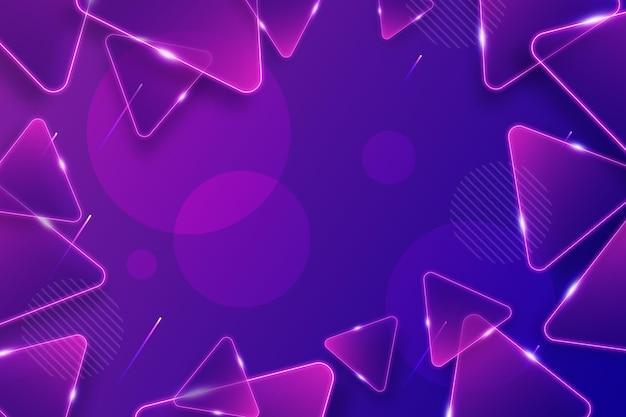 Fondo abstracto con tringles brillantes