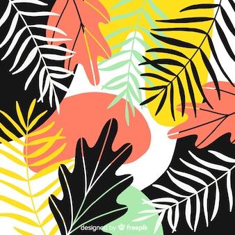 Fondo abstracto tropical hecho a mano