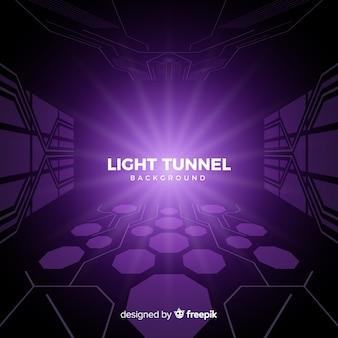 Fondo abstracto de túnel tecnológico con luz