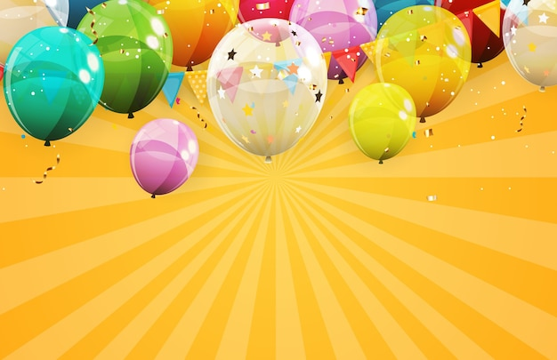 Fondo abstracto de vacaciones con globos