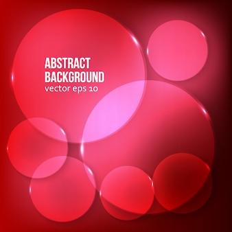 Fondo abstracto del vector. círculo rojo