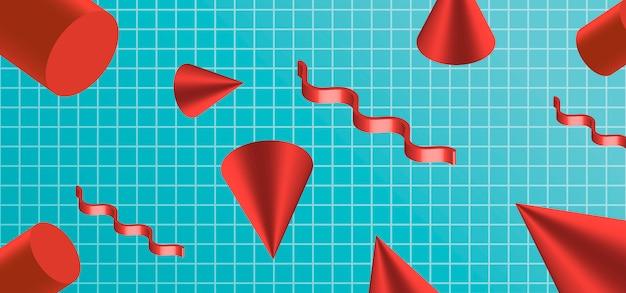 Fondo abstracto de vector con formas geométricas.