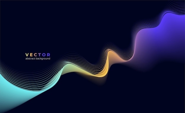 Fondo abstracto de vector con onda abstracta de color