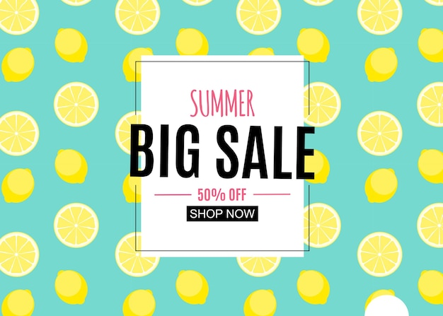 Fondo abstracto de venta de verano con hojas de palmera, flamenco y helado