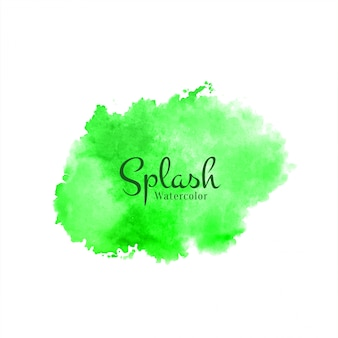 Fondo abstracto verde acuarela splash