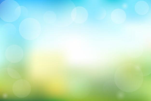 Fondo abstracto verde y azul con bokeh
