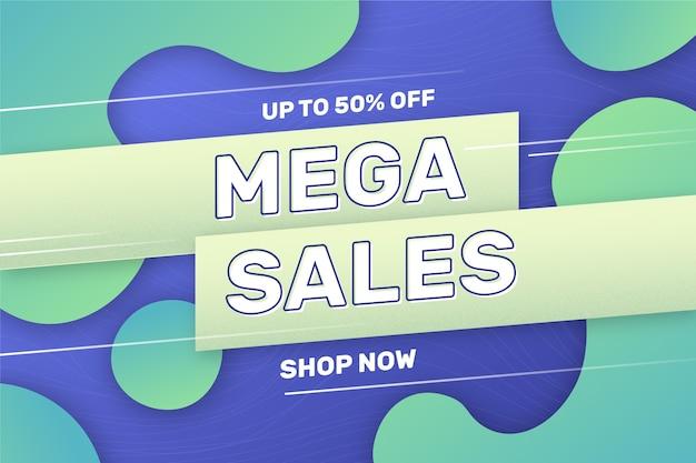 Fondo abstracto verde y azul de ventas