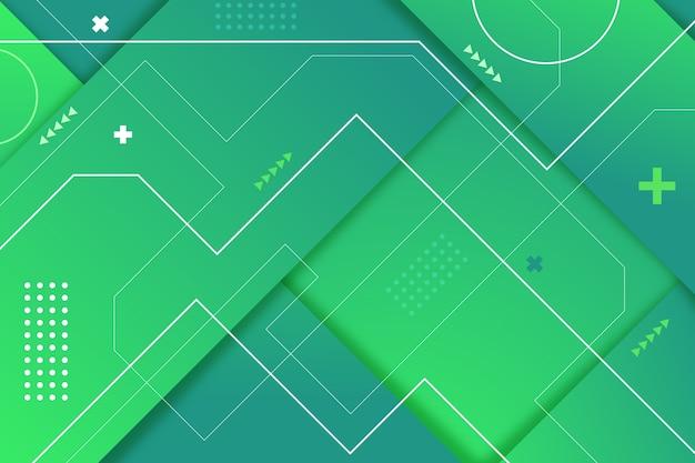 Fondo abstracto verde geométrico