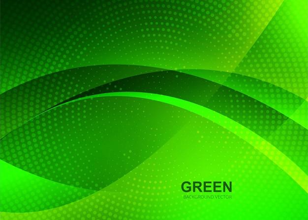Fondo abstracto verde hermosa ola