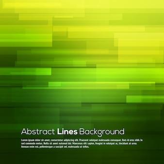 Fondo abstracto verde con líneas