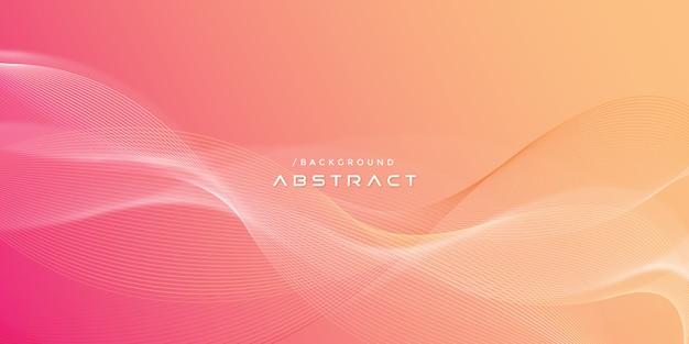 Fondo abstracto vibrante moderno líneas onduladas
