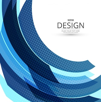 Fondo abstrato moderno azul