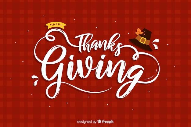 Fondo de acción de gracias dibujado a mano
