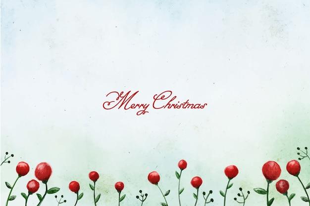 Fondo de acebo de navidad