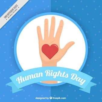 Fondo acerca de los derechos humanos, color azul