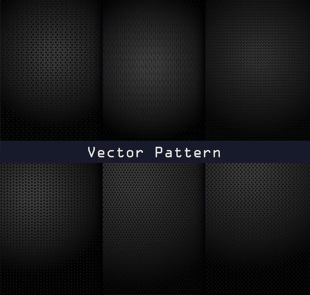 Fondo de acero de textura de patrones de metal negro