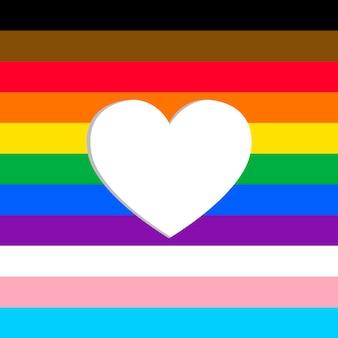 Fondo actualizado de la bandera del orgullo