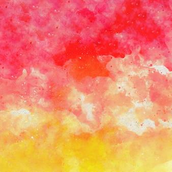 Fondo de acuarela abstracta amarillo rojo