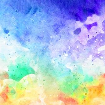 Fondo de acuarela abstracta de galaxia