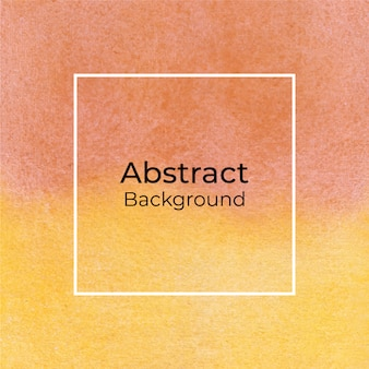 Fondo acuarela abstracta naranja y amarillo