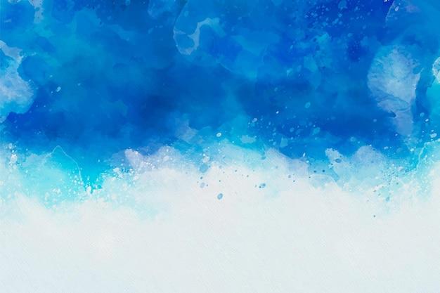 Fondo de acuarela abstracta pintada a mano