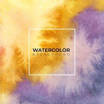 Fondo de acuarela abstracta púrpura naranja, pintura de la mano. color que salpica en el papel