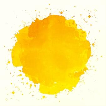 Fondo acuarela abstracta splash naranja