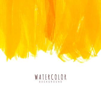 Fondo de acuarela amarillo abstracto