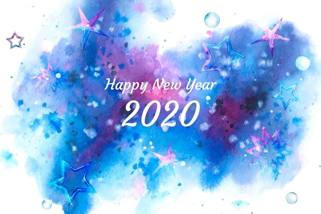 Fondo acuarela año nuevo 2020