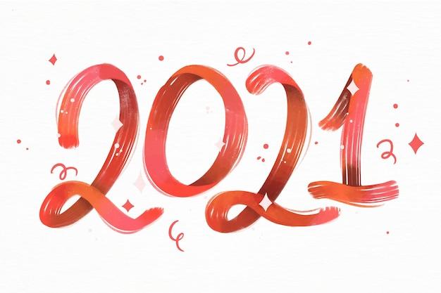 Fondo acuarela año nuevo 2021