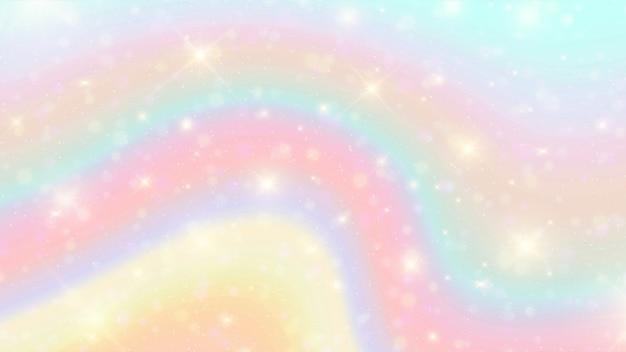 Fondo de acuarela arco iris bokeh.
